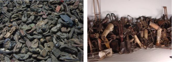 Scarpe e protesi sottratte ai deportati, esposte al Museo nel campo di Auschwitz I