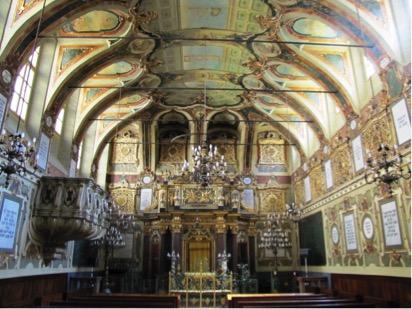 L'interno della sinagoga barocca di Casale Monferrato (1595)