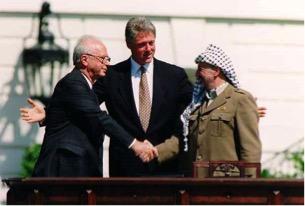 13 settembre 1993: Rabin, Cliton, Arafat