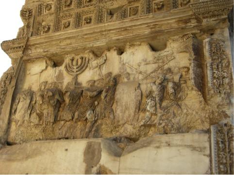 Arco di Tito – Il bassorilievo che raffigura la presa di Gerusalemme